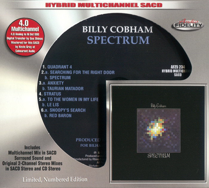 Billy Cobham – Spectrum (1973) [Audio Fidelity 2016] {PS3 ISO + FLAC}