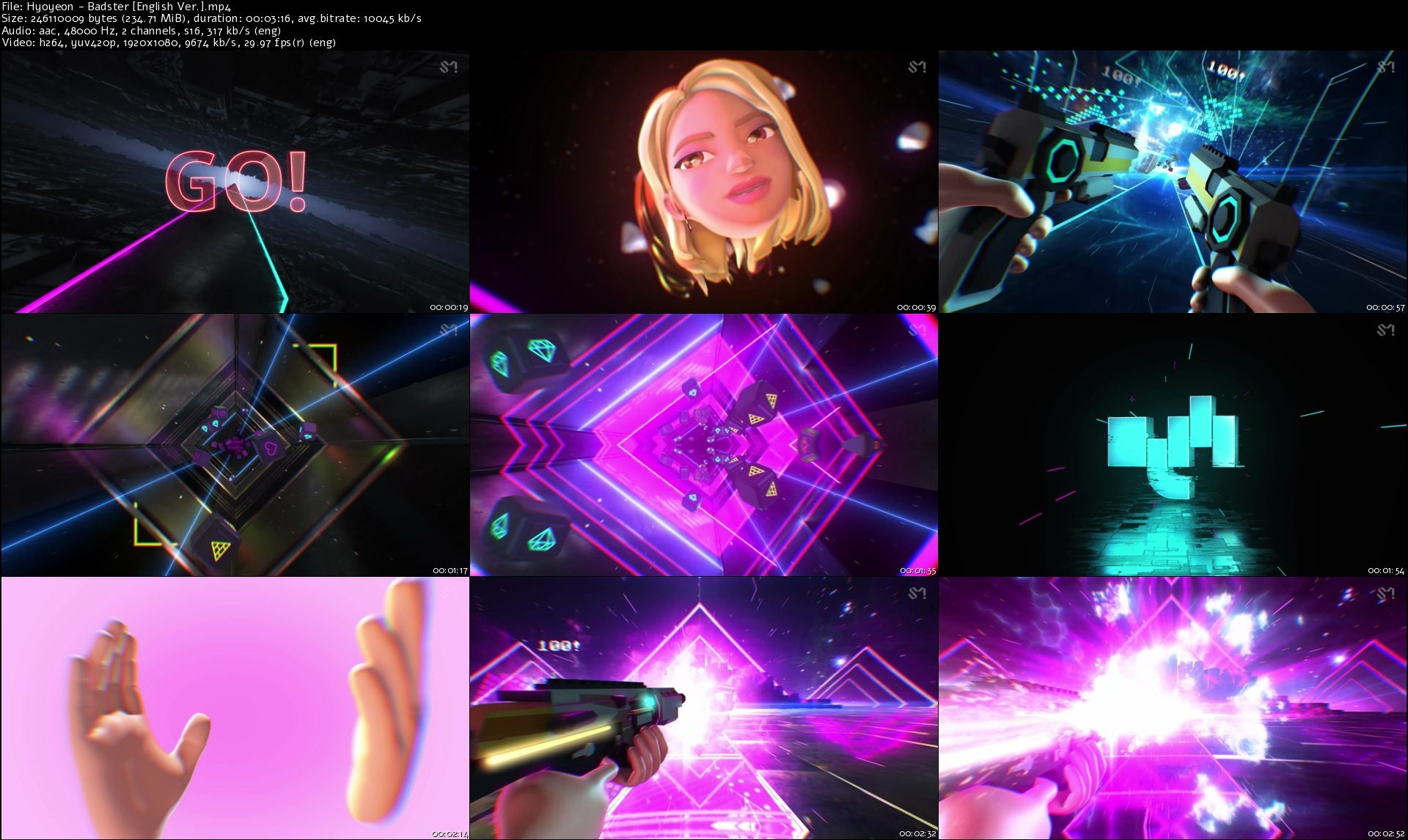 Hyoyeon (효연) – Badster [MP4 1080p / WEB / Bugs English Version – 2019] [2019.07.20]