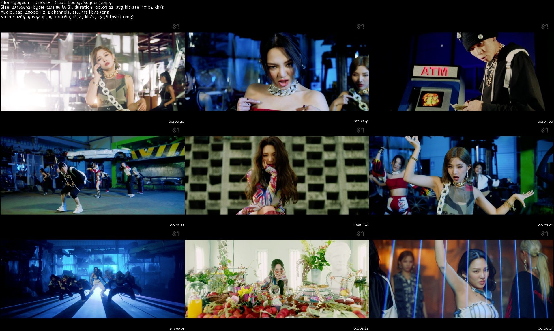Hyoyeon (효연) – DESSERT (feat. Loopy, Soyeon) [MP4 1080p / WEB / Bugs] [2020.07.22]
