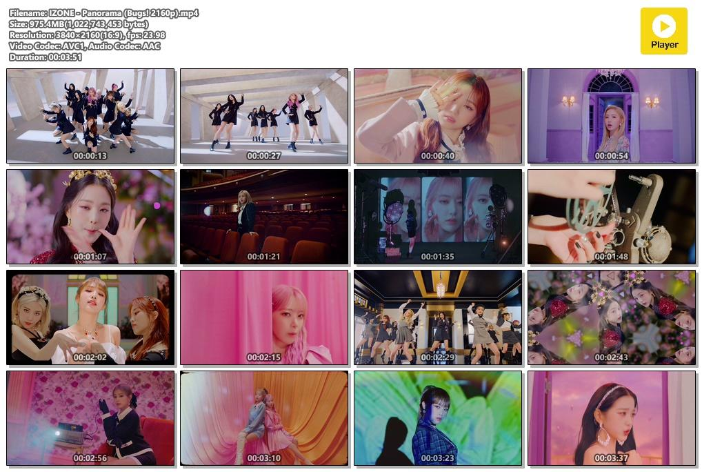 IZ*ONE – Panorama [MP4 2160p / WEB / Bugs] [2020.12.07]