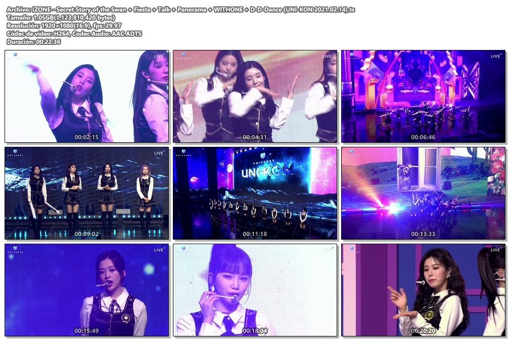 "IZ*ONE – Secret Story of the Swan + FIESTA + Talk + Panorama + With*One + D-D-DANCE (UNIVERSE K-Pop Concert ""UNI-KON"" 2021.02.14)"