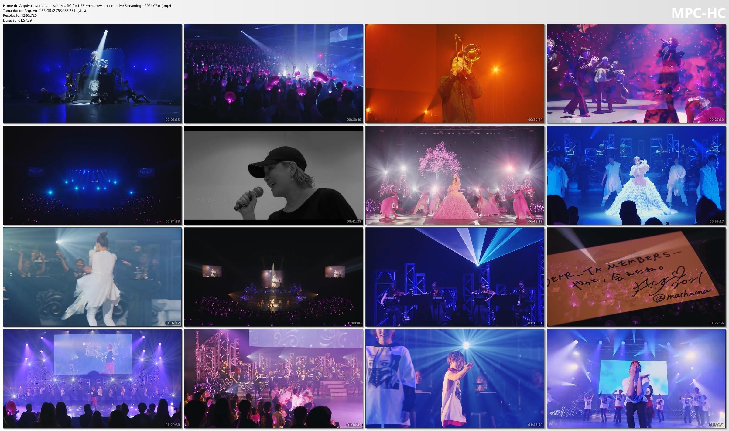 浜崎あゆみ (Ayumi Hamasaki) – ayumi hamasaki MUSIC for LIFE ~return~ (mu-mo Live Streaming – 2021.07.01) [MP4 / WEB]
