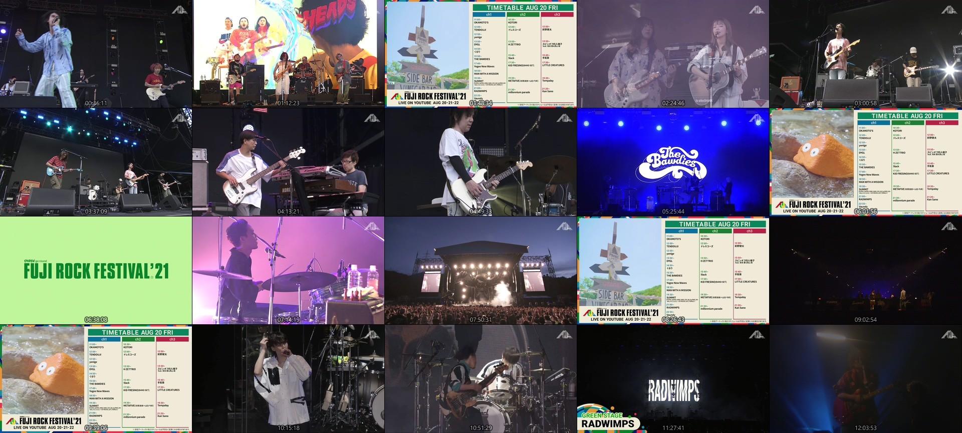 FUJI ROCK FESTIVAL – FUJI ROCK FESTIVAL '21 DAY1 LIVE Channel 1 (YouTube Live 2021.08.20)
