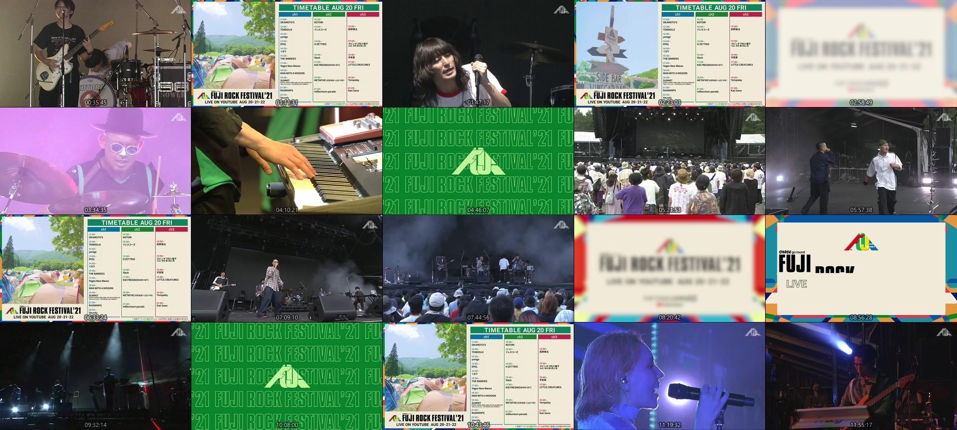 FUJI ROCK FESTIVAL – FUJI ROCK FESTIVAL '21 DAY1 LIVE Channel 2 (YouTube Live 2021.08.20)