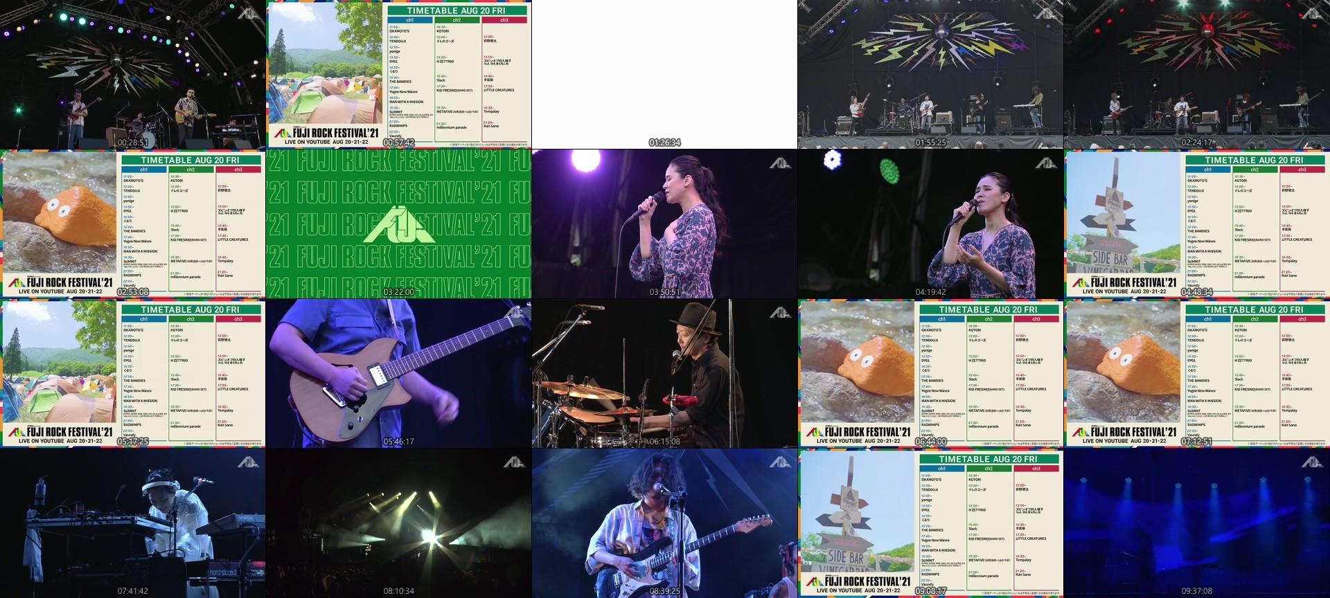 FUJI ROCK FESTIVAL – FUJI ROCK FESTIVAL '21 DAY1 LIVE Channel 3 (YouTube Live 2021.08.20)